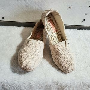 Mad Love lace flat slip on shoes